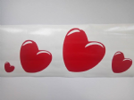 25 x Red heart stickers for walls windows Love Valentines 4 sizes to choose